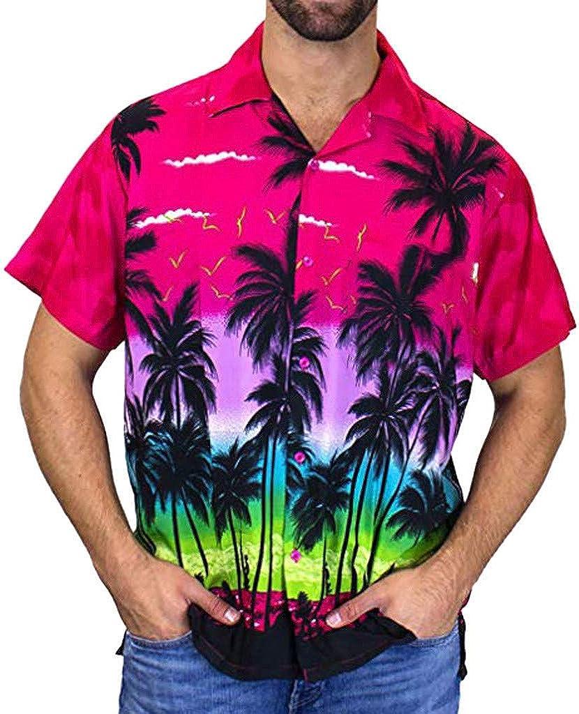Camisa de Manga Corta para Hombre, diseño de Palmera ...
