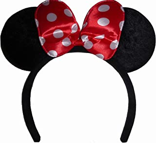 product image for Funfash Halloween Minnie Mouse Ears Polka Dots Headband Costume Adult One Size
