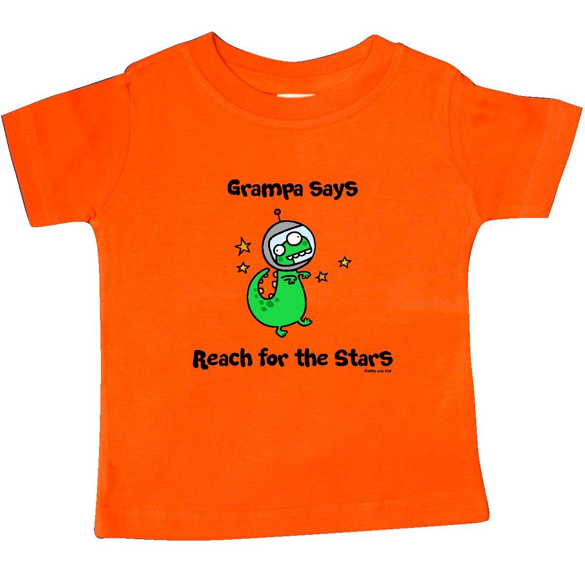 Flossy and Jim inktastic Grampa Says Reach for The Stars Baby T-Shirt