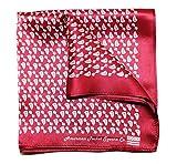 Silk Pocket Square by American Pocket Square Company   Burgundy Red, Pure Silk, Premium Quality for Men: ''Mr. Atlas''
