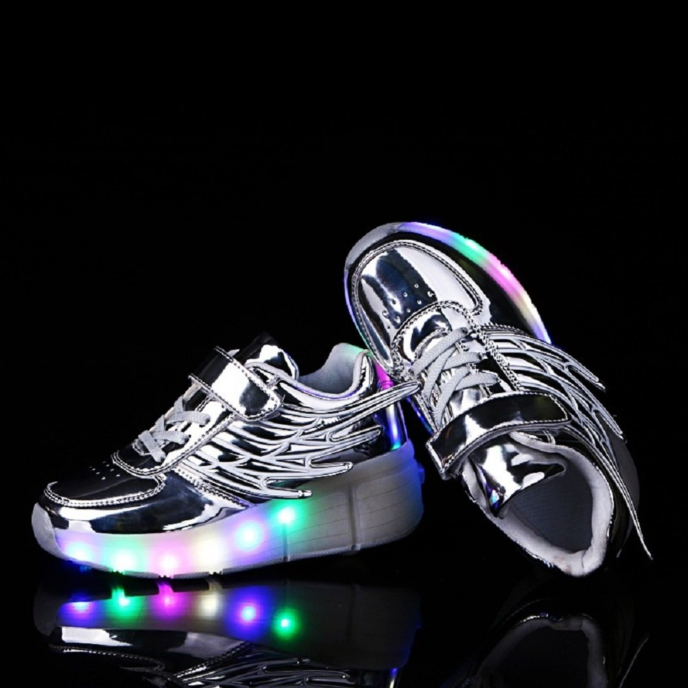966475c9 Led Luces Zapatos con Ruedas para Pequeños Niños y Niña Automática Calzado  de Skateboarding Deportes de ...