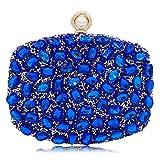 Bridal Rhinestone Evening Bag Party Handbags Clutch Purses For Women (Blue 1)