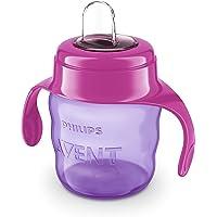 Philips Avent SCF551/03 - Vaso con boquilla de silicona para niña, válvula antigoteo, sin BPA, para bebe de 6 meses, 200…