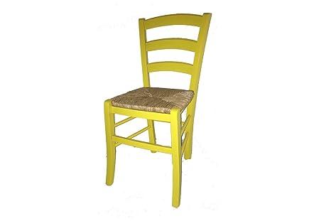 Sedia paesana seduta paglia laccata colorata sedie in legno faggio