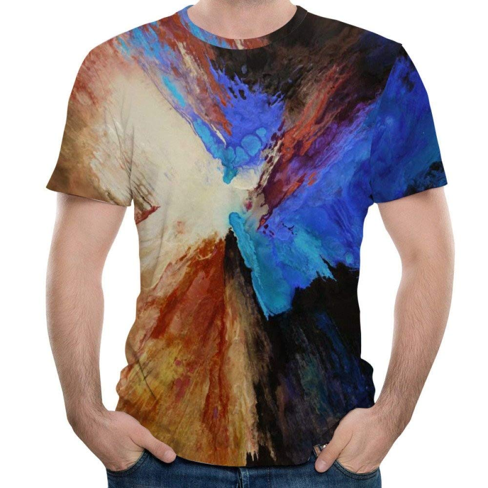 Short Sleeve T-Shirt Colorful Crewneck Graphic Casual Printed Tee Tops Chamnbilli 3D T-Shirt