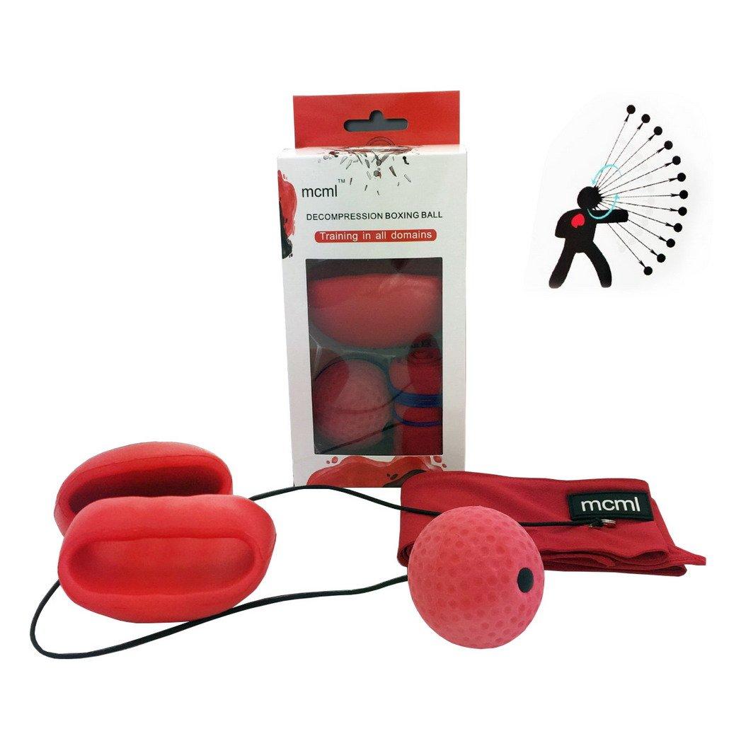Bola de lucha con banda para la cabeza, de boxeo Reflex bola de pelota de boxeo equipo de entrenamiento velocidad y agilidad reacción bolas para Adultos ...
