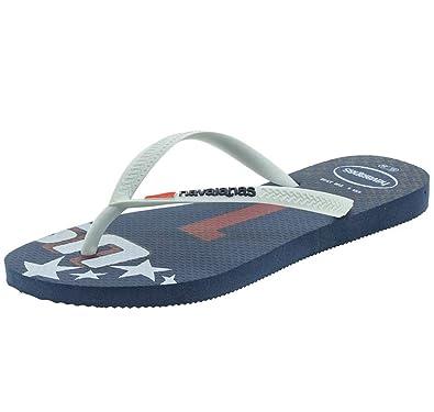 8766a656c Havaianas Women s Slim Teams-USA Sandal Indigo Blue  Amazon.co.uk ...