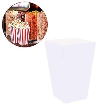 Bolsas de palomitas Nuolux, blancas de papel, 12 x 7 cm, 100 ...