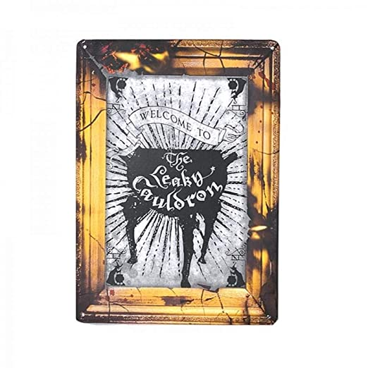 WBS Cartel de Chapa Harry Potter - A5 - The Leaky Cauldron ...