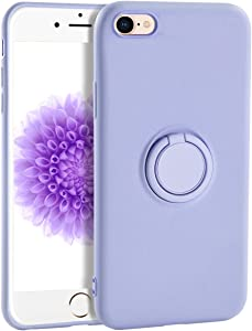 iPhone 6s Plus Case for Girls,Yoopake iPhone 6 Plus Case Liquid Silicone Case with Stand Ring Holder Support Magnetic Car Mount Soft Slim Protective Phone Cover Case for Apple 6S Plus,Lavender Purple