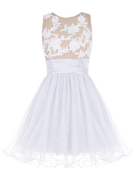 Bbonlinedress Vestido De Fiesta Gala Noche Corto Princesa Blanco 36