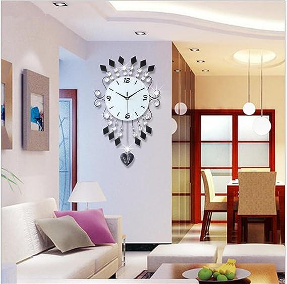 Moderno reloj de pared grande, sin sonido digital decorativo relojes, Creative balancín de barrido silencioso reloj de cuarzo, 68 36 cm: Amazon.es: Hogar