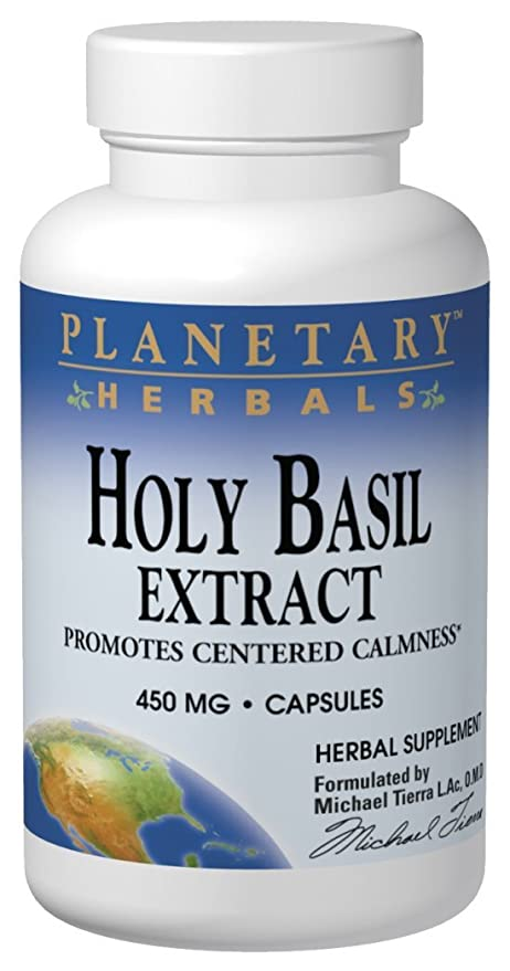 Planetary Herbals Holy Basil Extract (450mg, 120 Capsules ...