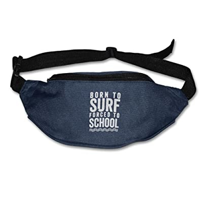30%OFF Yahui Born To Surf Forced To School Waist Bag Fanny Pack / Hip Pack Bum Bag For Man Women Sports Travel Running Hiking / Money IPhone 6 / 7 6S / 7S Plus Samsung S5/S6