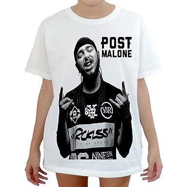 Amazon.com  Modman Men s Post malone Hiphop T-Shirt X-Large White ... c537d60de