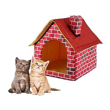 Oddity - Cama de Perro de ladrillo Rojo, Lavable, Desmontable, para casa de Chimenea, casa o casa: Amazon.es: Productos para mascotas
