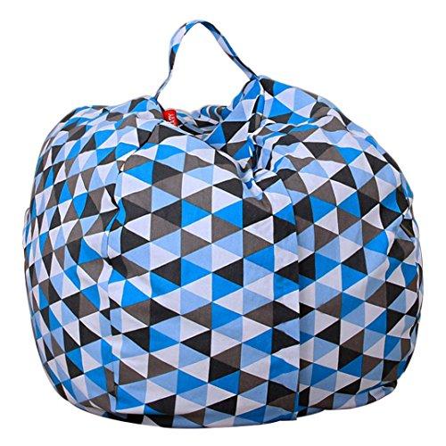 - AmyDong Storage Box,Clearance Home Storage Bag Plush Kids Stuffed Animal Plush Toy Storage Bean Bag Soft Pouch Stripe Fabric Chair (C)