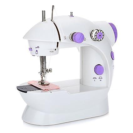 OAKOME Mini Máquina de Coser Automática Eléctrico de Doble Velocidad de Rosca Automática con Luz,