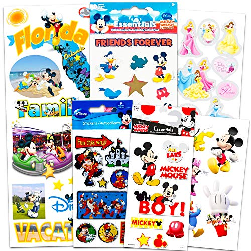 Disney World Vacation Stickers Super Set ~ Bundle Includes 6 Mickey Mouse Sticker Packs (Disney Mickey Mouse Party Supplies, Scrapbook Supplies)