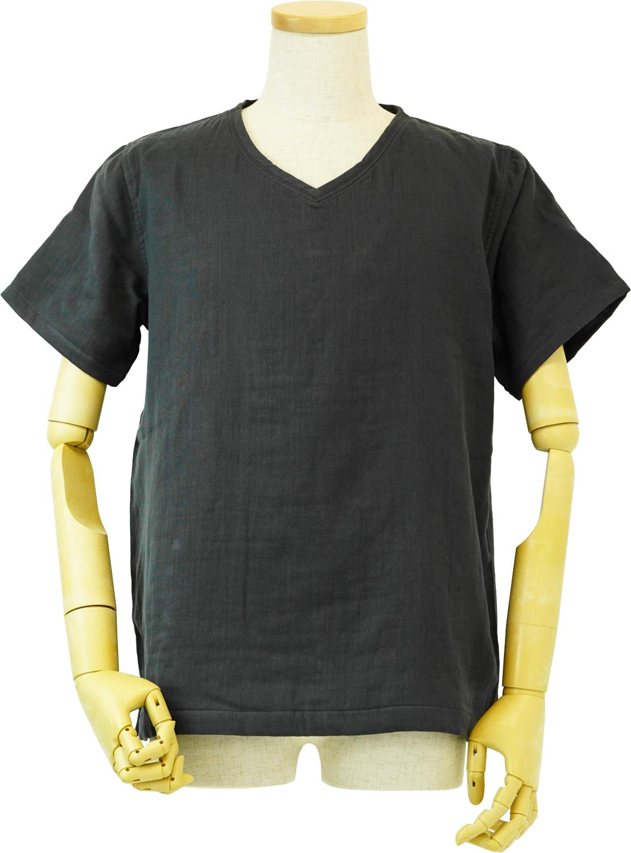内野(UCHINO) Tシャツ マシュマロパイル & ガーゼ メンズ ダークグレー LA 細番手無撚糸パイル×ガーゼ RTS95409 DGy B07Q48G3L3