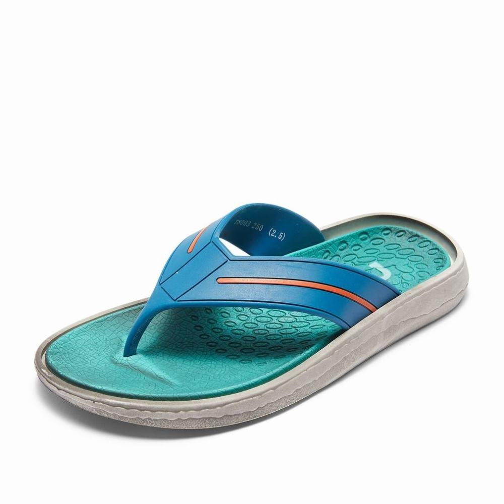 ZPD Sommer-Männer Flip-Flops Hausschuhe Sommer-Trend Tragen Strand Slip strapazierfähige Mode Hausschuhe Flip-Flops Männer A a1874b