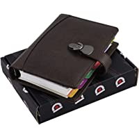 COI Brown A5 Dated Organizer/Vintage Faux Leather New Year 2020, Daily, Monthly, Yearly Diary and Planner for Office Going Men and Women.