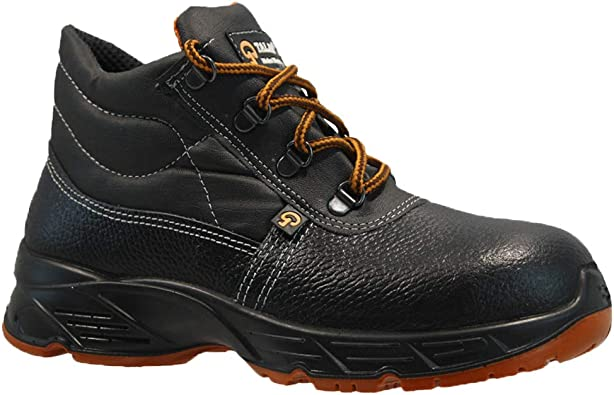 MENS LEATHER LIGHTWEIGHT STEEL TOE CAP SAFETY SHOES TRAINERS WORK BOOTS SIZE UK