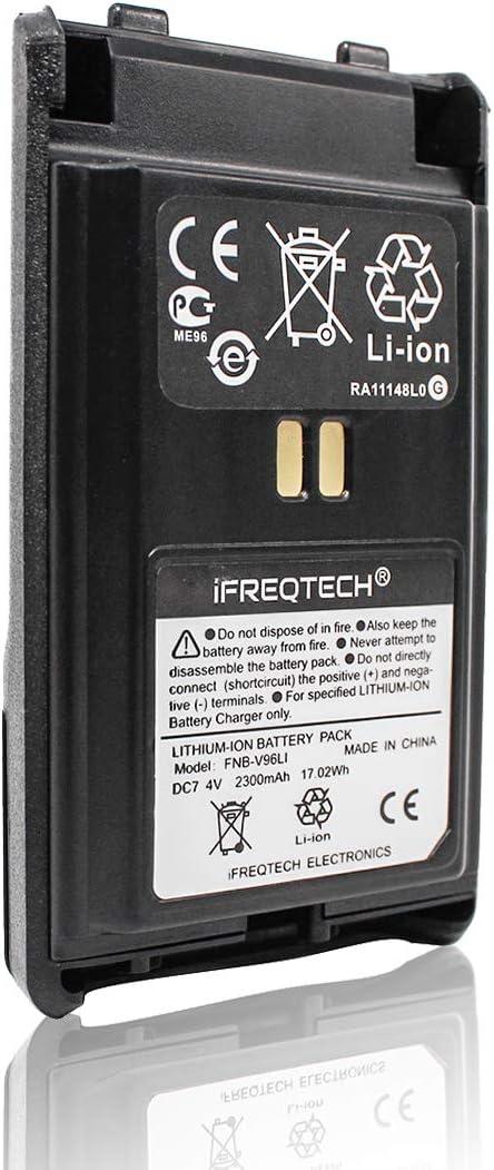 Amazon Com Fnb V96li For Yaesu Vertex Vx 350 Vx 351 Vx 354 Vx 359 2300mah Li Ion Battery Home Audio Theater