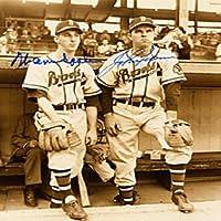 Warren Spahn / John Sain Autographed / Signed Boston Braves Baseball 8x10 Photo