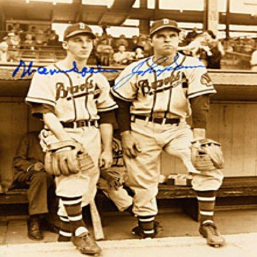 Warren Spahn / John Sain Autographed / Signed Boston Braves Baseball 8x10 Photo (Photograph Spahn)