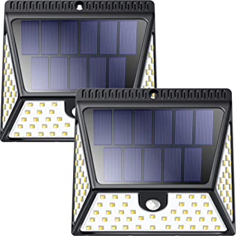 Luposwiten 82 LED Focos Solar Exterior,1640LM Luz Solares, 270°Gran Angular Luces Solares IP65 Impermeable para Jardín, Patio,Garaje, Terraza, Caminos, Escalera Lámparas Solares Exterior (2 Piezas): Amazon.es: Iluminación