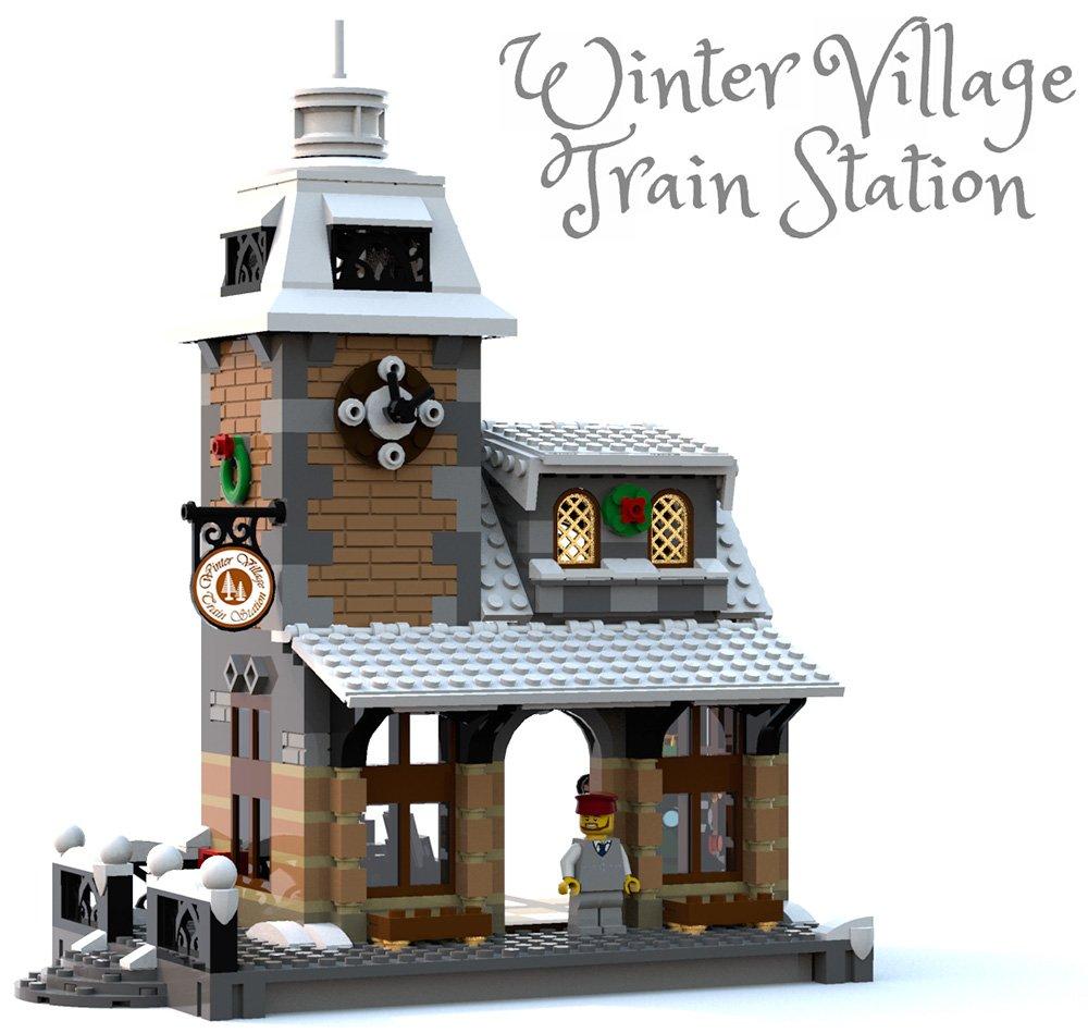 Amazon Constructibles Winter Village Train Station Lego Parts