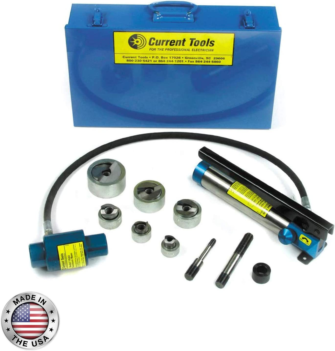 1//2 to 2-161SS CURRENT TOOLS Heavy Duty Piece Maker Hydraulic Knockout Set for Stainless Steel