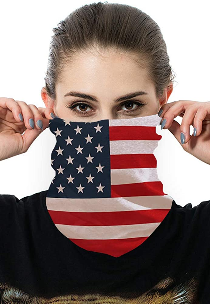 Face Cover Headband for Protection Face Scarf Unisex Patriotic