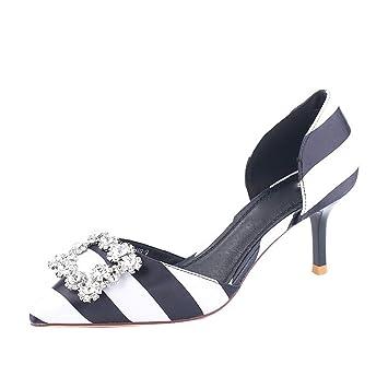 Kphy Zapatos De Mujercabeza Puntiaguda 7 Cm Zapatos De Tacon Alto