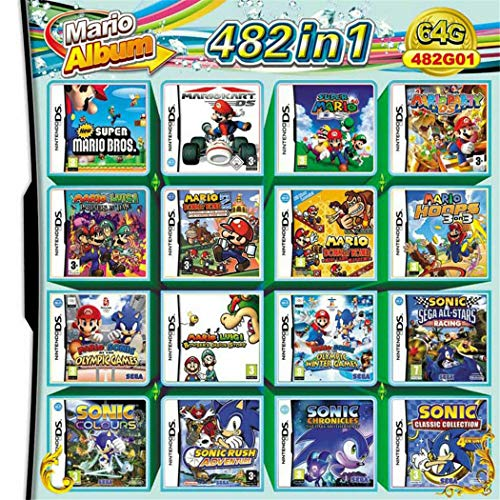 482 In 1 Video Game Card Cartridge Console For Nintendo 2DS 3DS NDSI NDS NDSL
