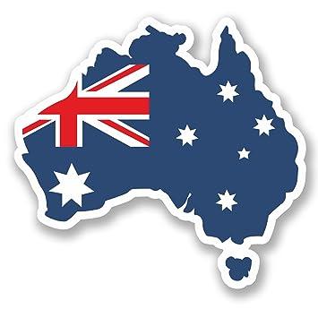 Carte Australie Drapeau.Amazon Fr 2 X 10 Cm Australie Sticker En Vinyle Pour
