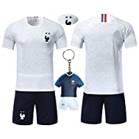 VOOA Maillots de Football de France Soccer Jersey 2018 Coupe du Monde France 2 Étoiles Football T-Shirt et Short
