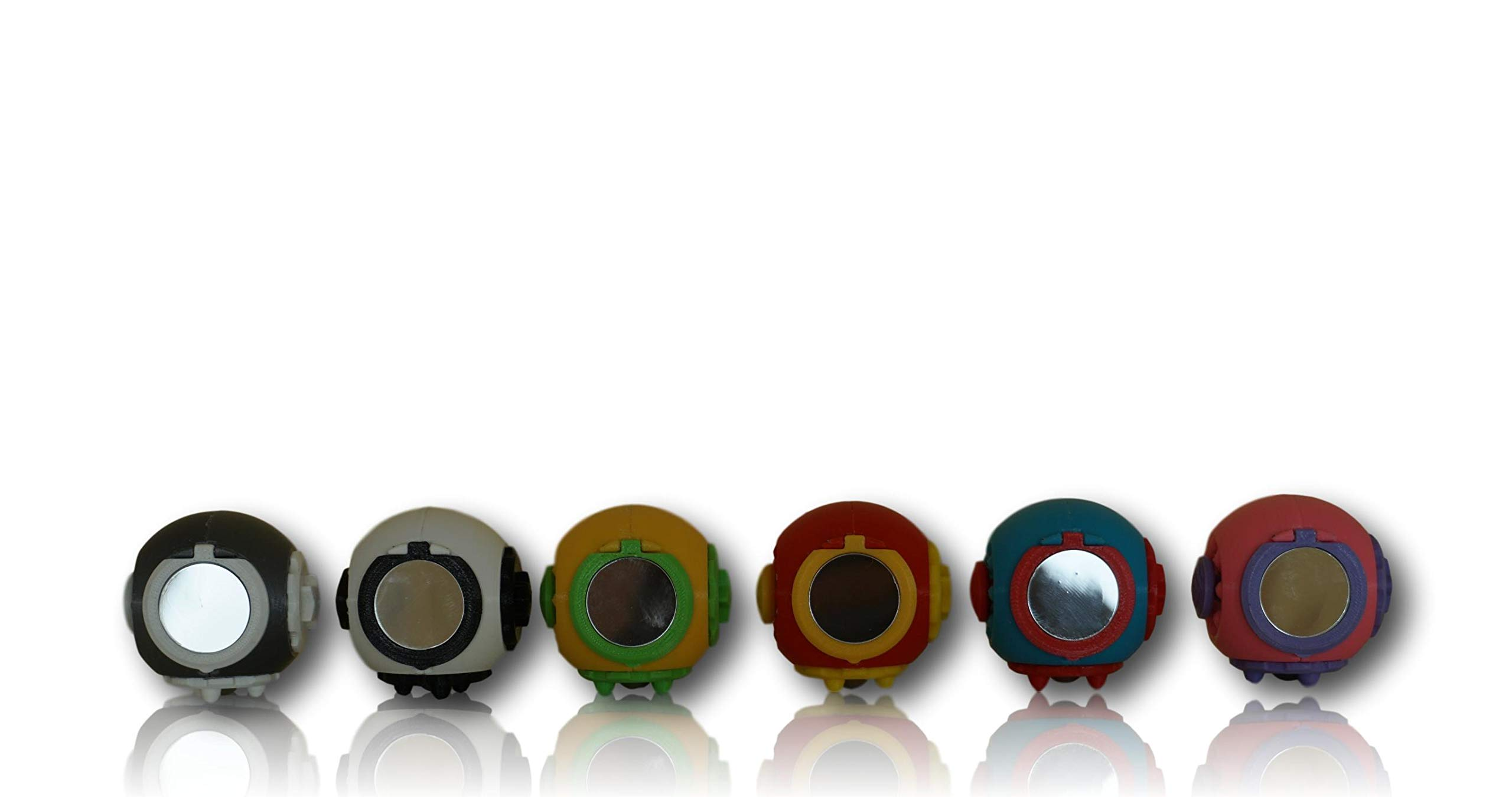 SphereGrip, Fidget toy, Reduce Anxiety and Stress, Increase Self-confidence, Fidget, Storage, Mirror (All 6 combinations)