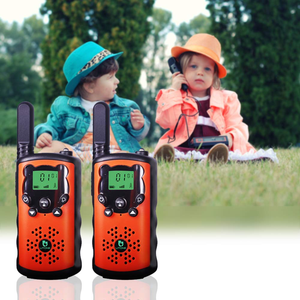 TOWOLD Walkie Talkies for Kids, Toys for 5-12 Year Old Boys and Girls 22 Channels 2 Way Radio Teen Boy Best Gifts for Birthday,Outside Adventures and Camping (Orange) by TOWOLD (Image #2)