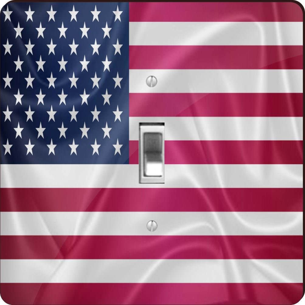 Rikki Knight RK-LSPS-2675 United States Of America Usa Flag Design Light Switch Plate Cover by Rikki Knight (Image #1)