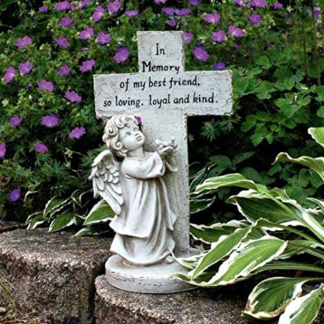 Design Toscano Best Friend Pet Memorial Statue, Ivory