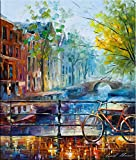 Bicycle In Amsterdam is a Limited Edition print from the Edition of 400. The artwork is a hand-embellished, signed and numbered Giclee on Unstretched Canvas by Leonid Afremov. This wonderful artwork is one many paintings Leonid has done of Amsterdam,...