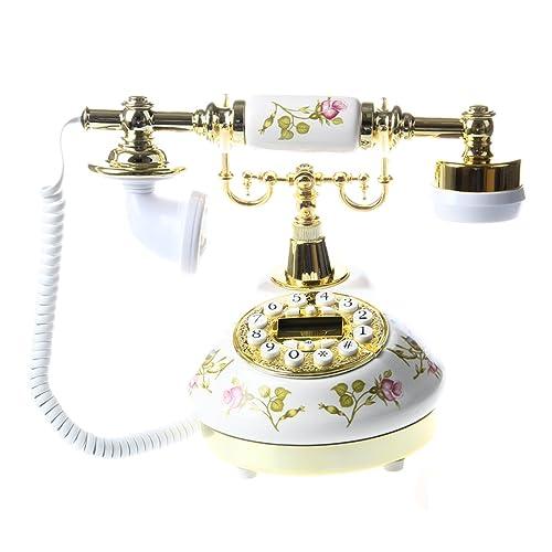 SODIAL (R) Antique Designer Phone nostalgia telescope vintage telephone made ??of ceramic MS-9100