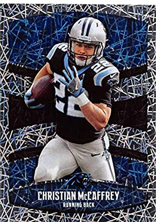 2018 Panini NFL Stickers Collection  345 Christian McCaffrey Carolina  Panthers Foil Official Football Sticker 49ca41e60