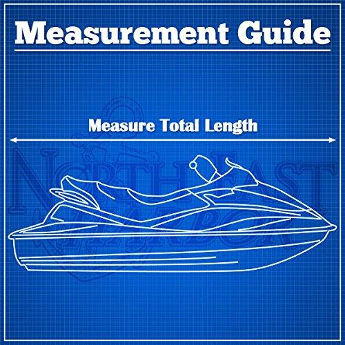"Gray Trailerable PWC Personal Watercraft Cover Covers Fits 2-3 Seat Or 136""-145"" Length Waverunner, Sea Doo, Jet Ski, Polaris, Yamaha, Kawasaki Covers"