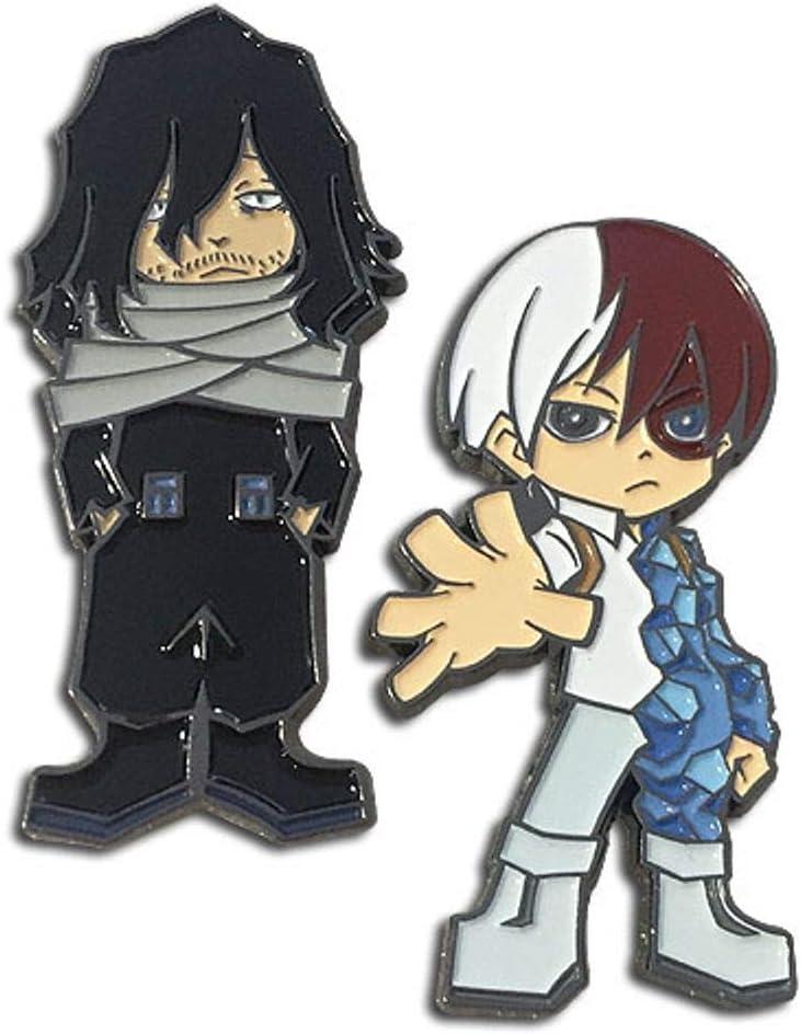 My Hero Academia Shoto And Aizawa Pin Set Anime Enamel Pin
