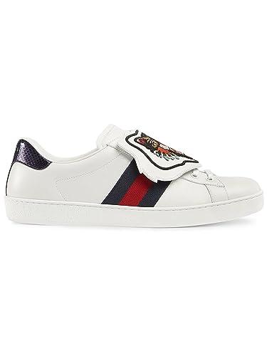 Gucci Sneakers Uomo 478190DOP809182 Pelle Bianco  Amazon.it  Scarpe e borse 5970b15c39b