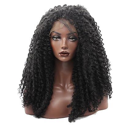 kalyss Mujer hinchable de grosor densidad Afro Kinky rizado ...
