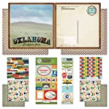Scrapbook Customs Themed Paper and Stickers Scrapbook Kit, Oklahoma Vintage